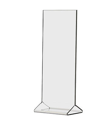 """4""""W x 9""""H Double-sided Table Sign Holder, Table Tent Pack of 6 Clear Acrylic"""