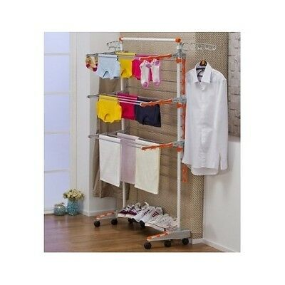 Collapsible Drying Rack Badoogi Heavy Duty Compact Storage Laundry Clothing