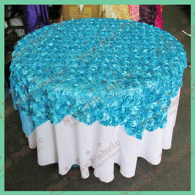 Table Overlay Guipure 3401 50 X 50 Inches Square Turquoise