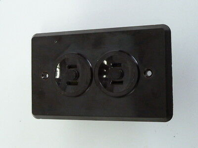 Bakelite Outlet Cover One Piece Unit Brown