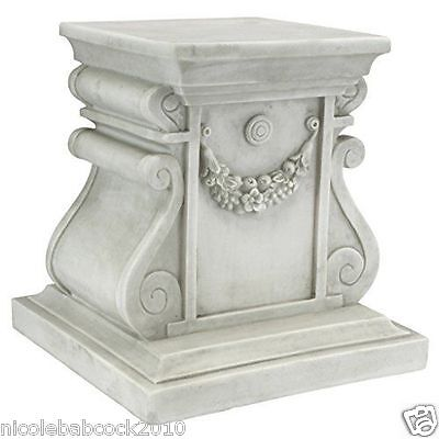 Column Pedestal Plinth Architectural Antique Style Roman Greek Medium Base
