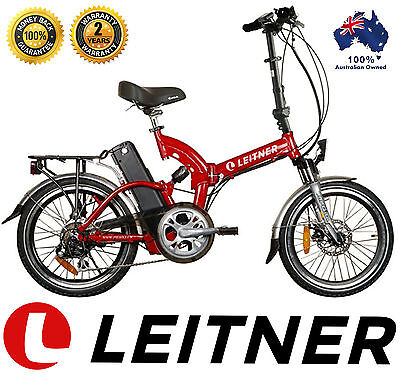 NEW Leitner DUAL Suspension Folding electric bike ebike 10ah Lithium, 36V 250w