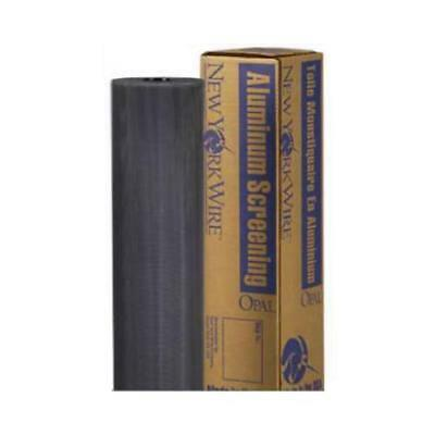 New York Wire FCS9418-M 36-In. x 100-Ft. Charcoal Aluminum Insect Window Screen