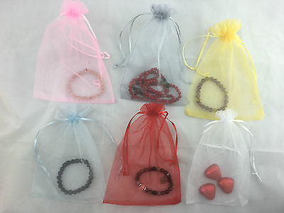 10/30/50/100 Organza Bags Wedding Gift Bag Jewellery Packing Pouch Bag 9x12cm