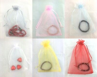 10/30pc Organza Bags Wedding Bombonie Gift Jewellery Packing Pouch Bag 13x18cm