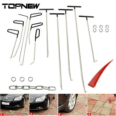 11 Pieces Auto Body Dent Removal Pdr Rods Paintless Door Ding Repair Starter Set