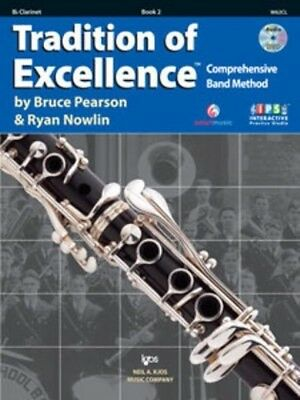 Tradition Of Excellence Book 2 Clarinet, interactive practice studio.