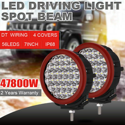 7Inch 28800W NEW CREE LED Work Driving Lights Spotlights Black Offroad HID 12V