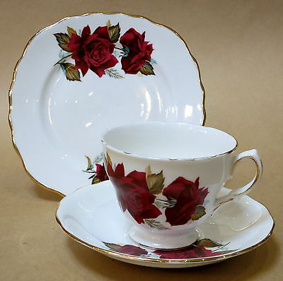 Beautiful Vintage Duchess 'velvet Rose' Trio Cup Saucer Plate