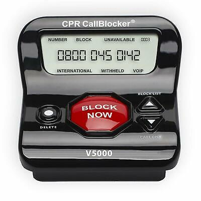 CPR V5000 Call Blocker - Block All Robocalls, Political Calls, Scam Calls