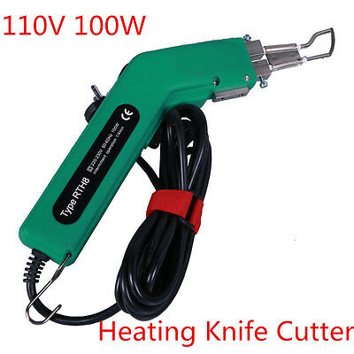 110V 100W Handheld Banner Hot Cutter Heating Knife, Rope Hot Knife Cutting Tool