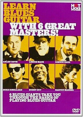 Learn Blues Guitar With 6 Great Masters Anglais