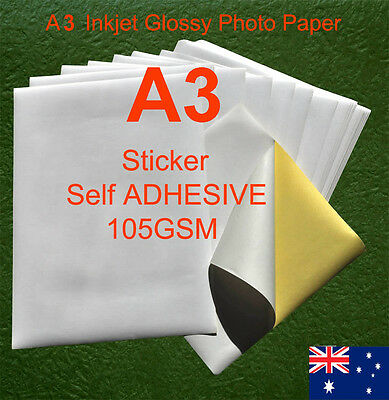 230 sheets A3 105GSM Inkjet and Laser Glossy Label Paper Sticker Adhesive