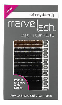Salon System Lash Extensions SILKY 0.10 Fine Assorted Black/Brown (2,960)