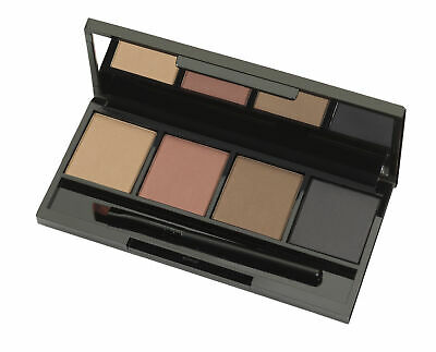 Salon System Marvel Brow MarvelBrow Palette Eyebrow 4 Colour + Brush Anti Smudge