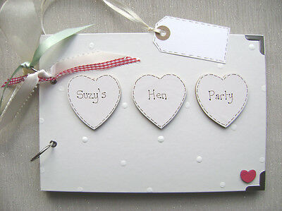 Personalised  Hen Party .a5  Size... Photo Album/scrapbook/memory Book.