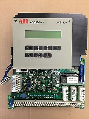 """ABB ACH """"SNAT7640"""" Control Board/Display for ACH500 and ACS500 Drives/ VFD's"""