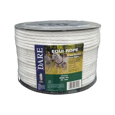 Dare Products 3094 Electric Fence Rope, Braided White Dacron & Stainless Steel,