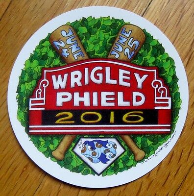 2016 PHISH at wrigley phield CHICAGO... STICKER
