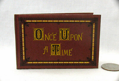 ONCE UPON A TIME Illustrated Readable Book 1:3 Scale Dollhouse Miniature Book