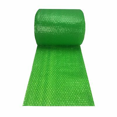 """Small Bubble Green Wrap - 60' x 12"""" Wide perforated every 12"""""""