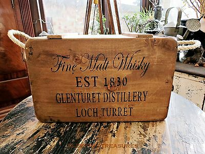Vintage Style, Fine Malt Whisky Crate, Box, Chest.