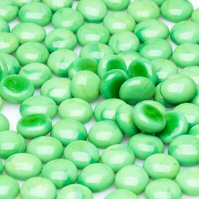 GLASS PEBBLES - GREEN 500g FOR MOSAIC ART OR CRAFT, VASES, AQUARIUMS