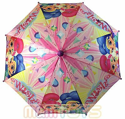 Nickelodeon Shimmer and Shine Molded Handle Umbrella for Kids NWT
