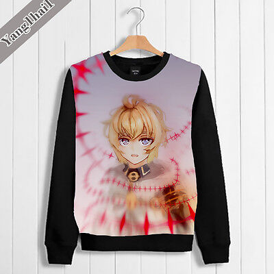 Hoodie Japanese Anime Seraph of the end Pullover Sweat Shirt Casual  Coat