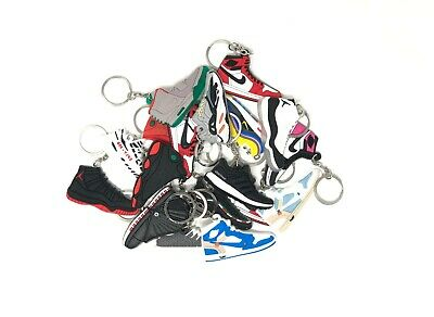Sneaker Keychains Retro J's Yeezy BOOST NMD BAPE SUPREME 5's BRED ( 10 PACK )