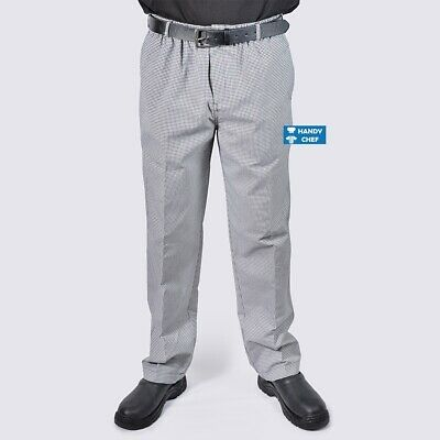 Chef Pant Check - Elastic, Drawstring & Zip Fly Chef Pant - Quality Chef Pants