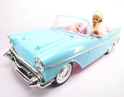 Vintage Barbie 1957 CHEVY BEL AIR Convertible Car by Mattel 1988