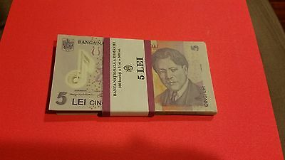 romania 5 lei  pack total 97 gem unc 2005