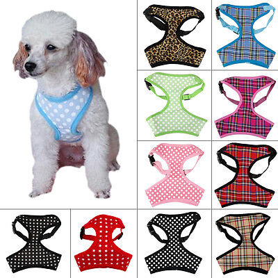 10pcs/lot Breathable Mesh Puppy Pet Dog Harness for Small Dogs Chihuahua Poodle