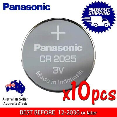 10x PANASONIC CR2025 3v 170mah lithium Battery button cell/coin for calculator