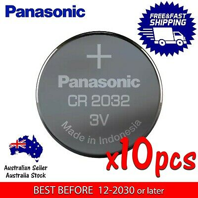 10x PANASONIC CR2032 3v 225mAh lithium Battery button cell/coin for calculator