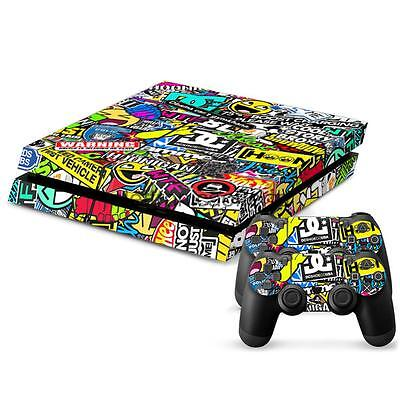 Hiphop Adesivo Cover Skin Copre Per Sony PS4 Playstation Console Controller