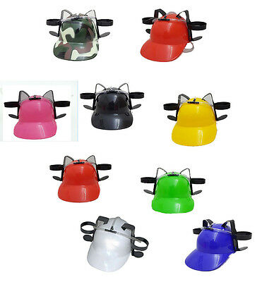 Novelty Beer Drinking Helmet Hat Game Drink Can Holder Soda Hen Party Stag Do