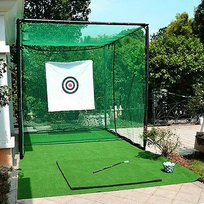 Golf Cage-Professional Golf Club Practice Net Shot Training Cage Outdoor Sports