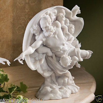"11"" W  Bonded Marble Statue - God Sculpture the creation of man adam"