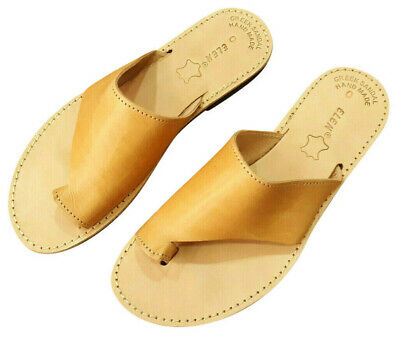 Ancient Greek Style Womens Roman Genuine Leather Handmade Sandals Shoes Spartan