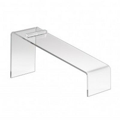 "Clear Slanted Shoe Acrylic Riser Display Holder Stand 9""L x 4""W x 7""H"