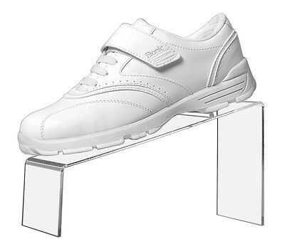 "Retail Stand Clear Acrylic Slanted Shoe Stand Holder Display 9""L x 4""W x 5""H"