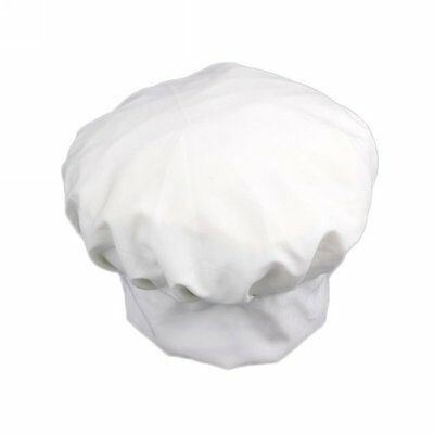 Fancy Dress Party Baker Cook BBQ Kitchen White Chef Hat LW