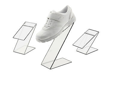 Clear Slant Back Acrylic Shoe Risers Display Stand Set of 3