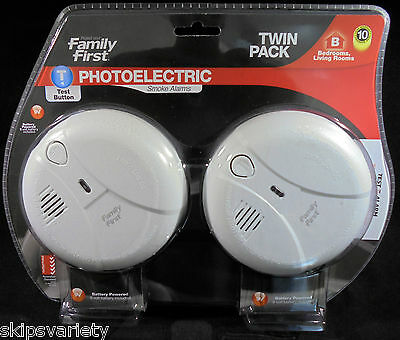 Smoke Alarm - Photoelectric - 9V - Twin Pack