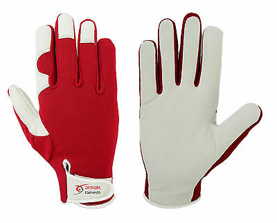 Gardening Garden Gloves Soft Leather Red