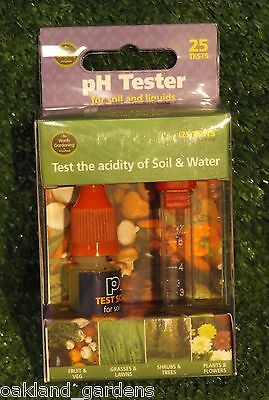 Ph Tester (25 Tests) For Soil And Liquids Water Liquid Test Ph Level