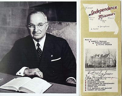 Harry S. Truman 33rd President Of The United States Signed Independence Brochure