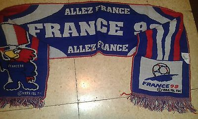 FRANCE 98 MUNDIAL Bufanda Futbol Football Scarf